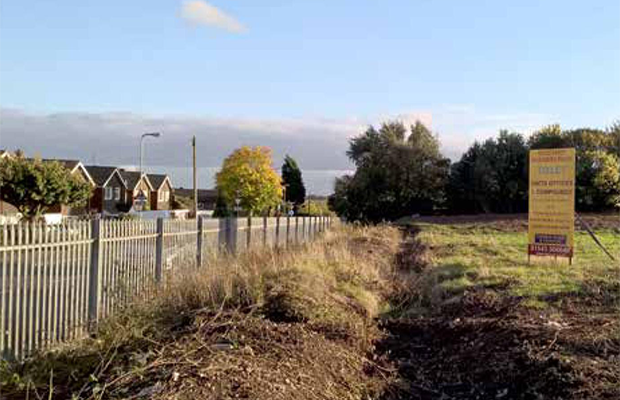 The land at New Road which could be used for housing