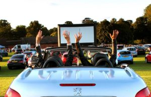 The drive-in movie event at Beacon Park