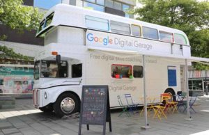 The Google Digital Garage bus