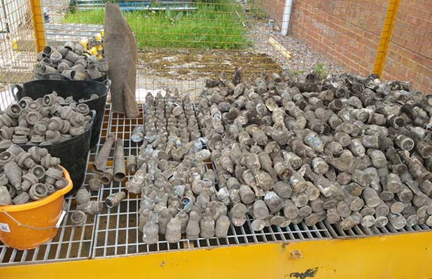 The mortar shells found in Burntwood