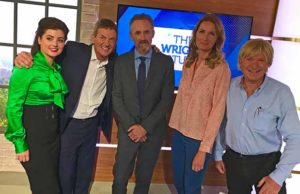 Michael Fabricant (right) with other guests on The Wright Stuff