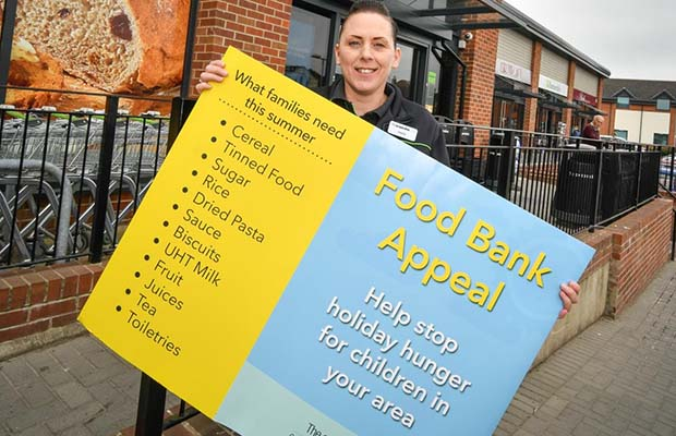 The launch of the summer food bank appeal