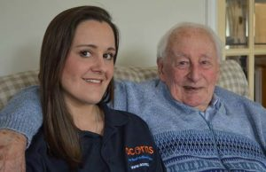 Gemma Williams and her grandad Bernard Gannon