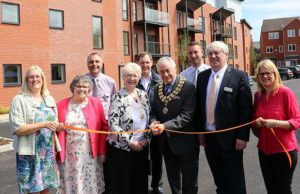 Cllr Bob Awty cutting the ribbon at Lichfield One