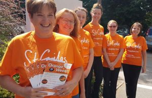 The St Giles Hospice team gearing up for Orange Week