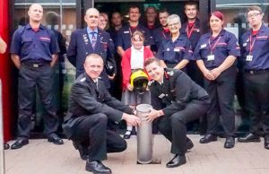 The time capsule at Lichfield Community Fire Station
