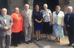 Councillors at the civic service in Lichfield