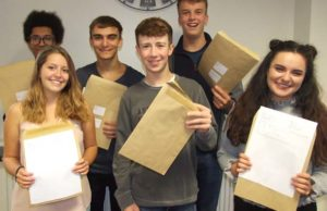 Pupils from The Friary School collecting their A-Level results