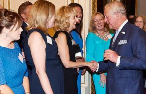 Representatives from Busy Bees meeting Prince Charles