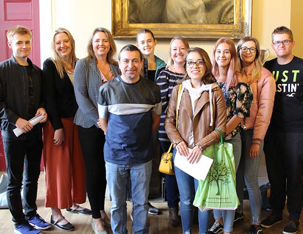 Staff and students from Lichfield Cathedral School on A-Level results day