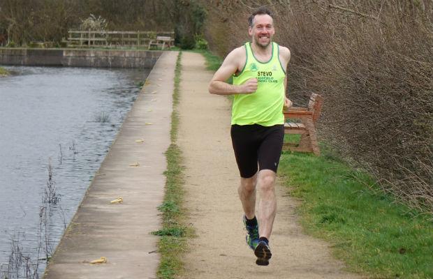 Steve Williams in training for the London Marathon