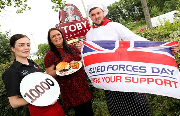 Armed Forces Day preparations at Toby Carvery