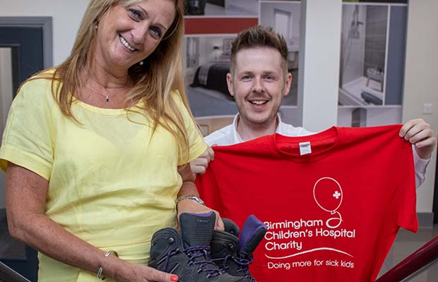 Charmaine Sweeney and Adam Routley preparing for the charity challenge