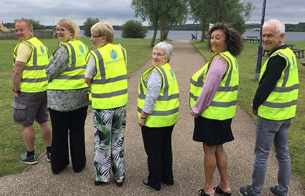 Members of the Chasewater Friends group