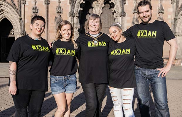 The launch of the Oxjam Festival in Lichfield