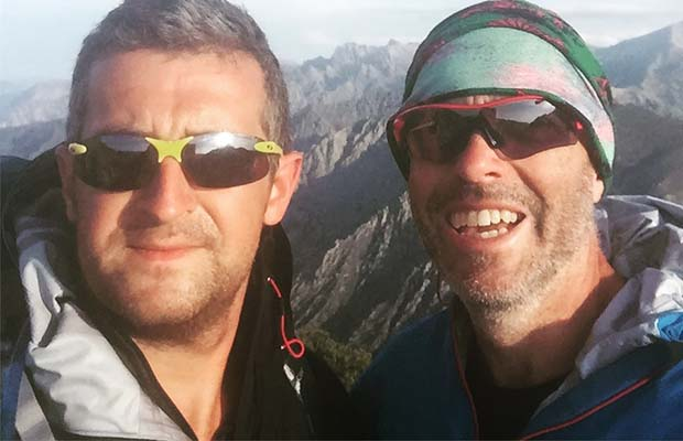 David Crisp and Andrew Blackmore who are two of the team taking on the charity trek