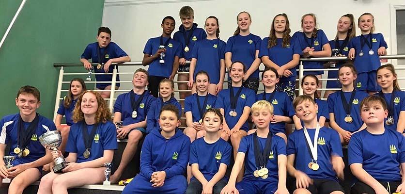Members of Lichfield Swimming Club