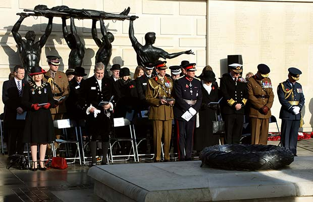 The Duke of Kent at the Armistice Day service