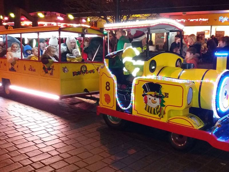 The Christmas train in Burntwood