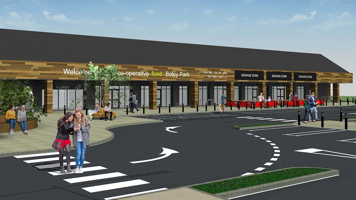 An artist's impression of the new site at Boley Park