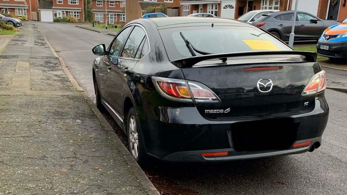 The Mazda seized by police in Lichfield. Picture: @LichfieldPolice