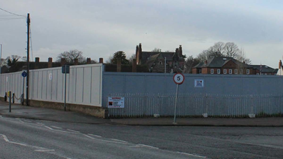 The hoardings around the site earmarked for the failed Friarsgate scheme