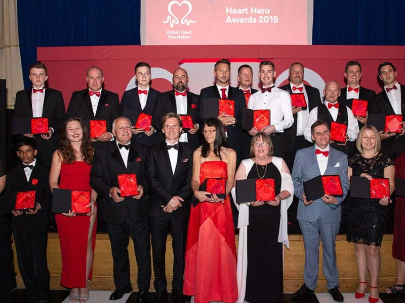 The winners at last year's Heart Heroes awards ceremony