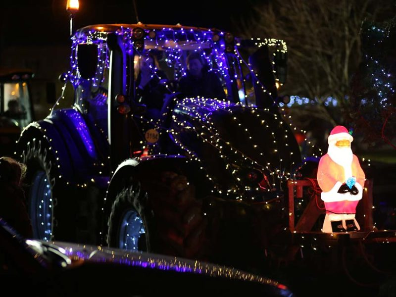 The Christmas tractor run
