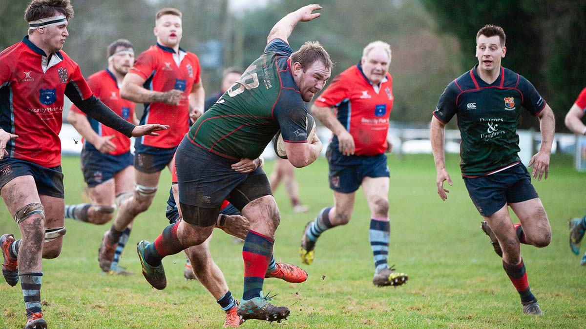 hfield Rugby is tackled in the Midlands 1 West match against Stoke