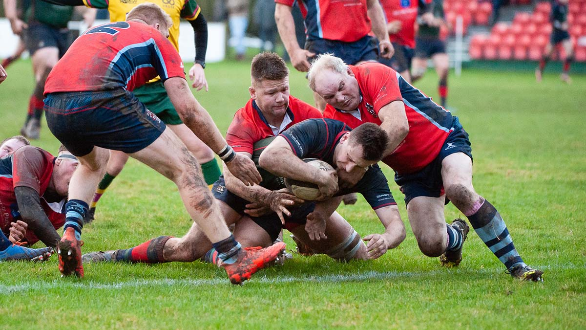Action from Lichfield RUFC's game with Stoke. Picture: Godden Photography