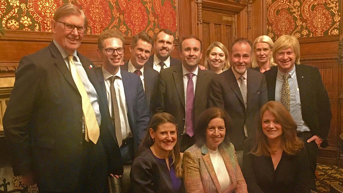 The Staffordshire Group of MPs, including Michael Fabricant (back row, right)