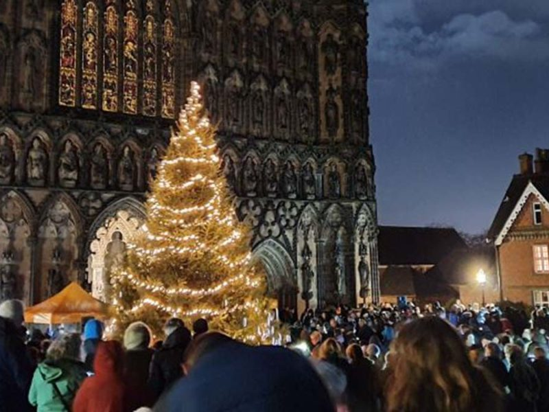 The Light Up A Life service outside Lichfield Cathedral