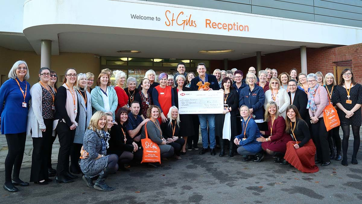 Tony Hadley at St Giles Hospice. Pic: Peter Blanchflower