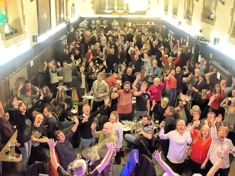 Crowds enjoying the Lichfield Winter Beer Festival