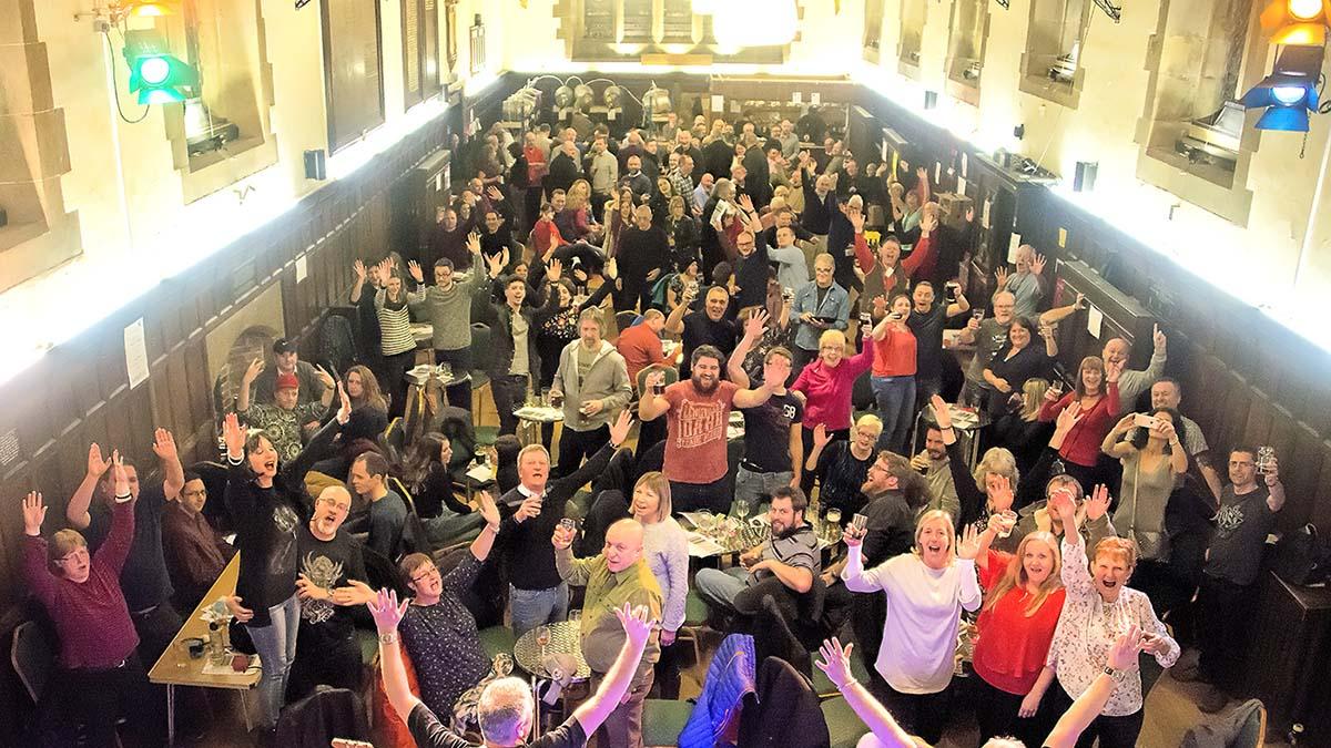 Crowds enjoying the Lichfield Winter Beer Festival