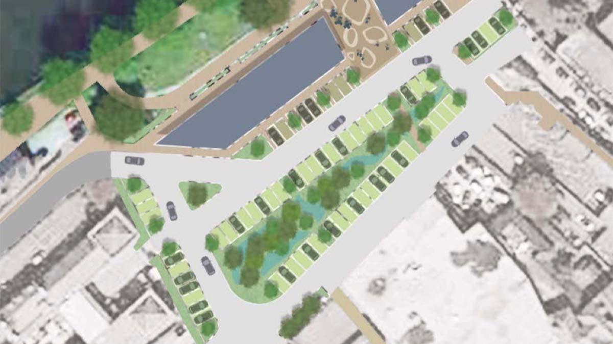 An artist's impression of the new Bird Street courtyard area
