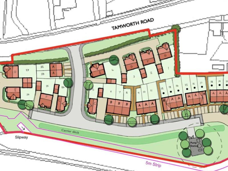 The proposed layout of the new housing development