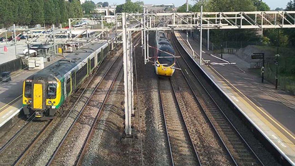 The West Coast Main Line through Lichfield Trent Valley station