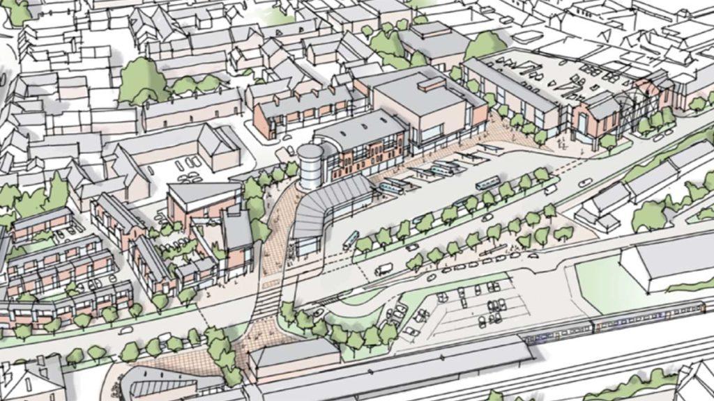 City centre masterplan artist's impression