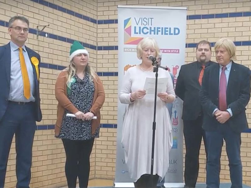 The 2019 General Election results are announced in Lichfield