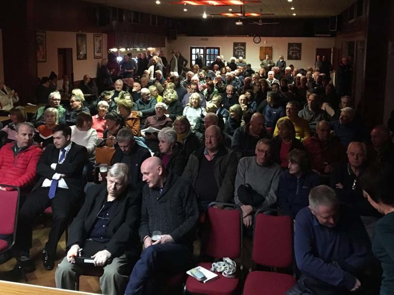 Residents at the public meeting in Burntwood
