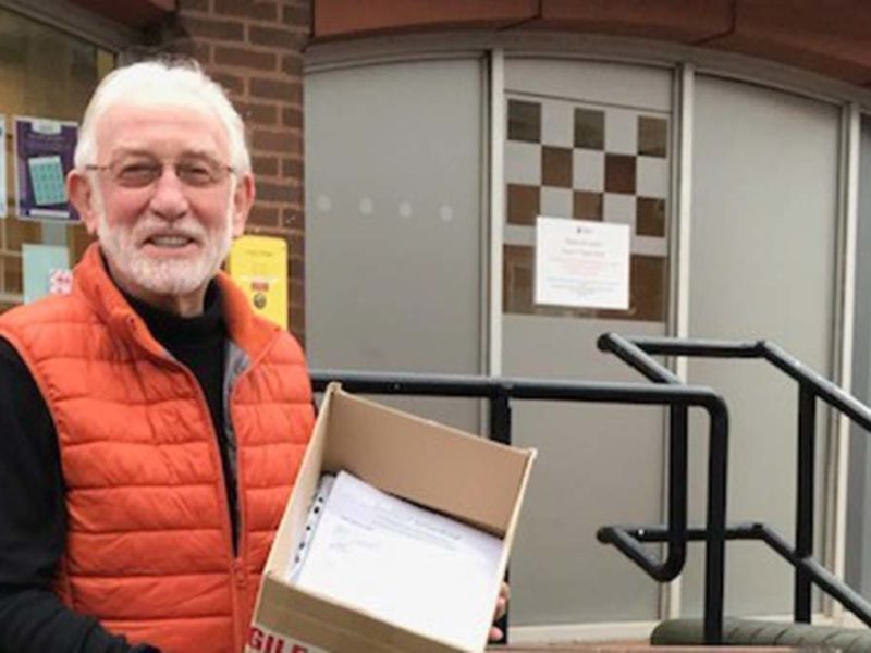 Burntwood Action Group delivering responses from residents to Lichfield District Council