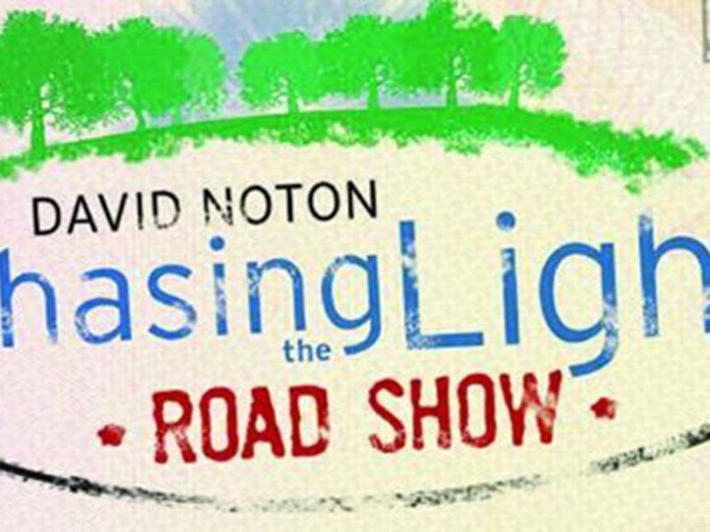 David Noton Chasing the Light Road Show logo