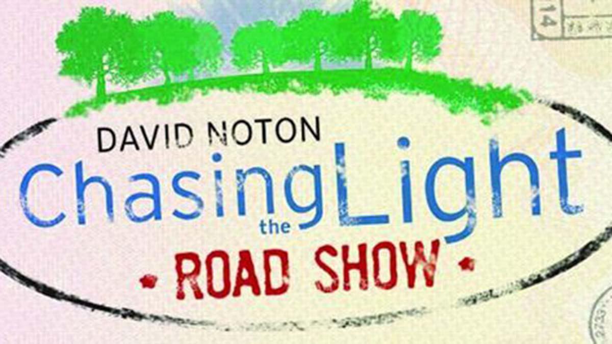 David Noton Chasing the Light Road Show logo