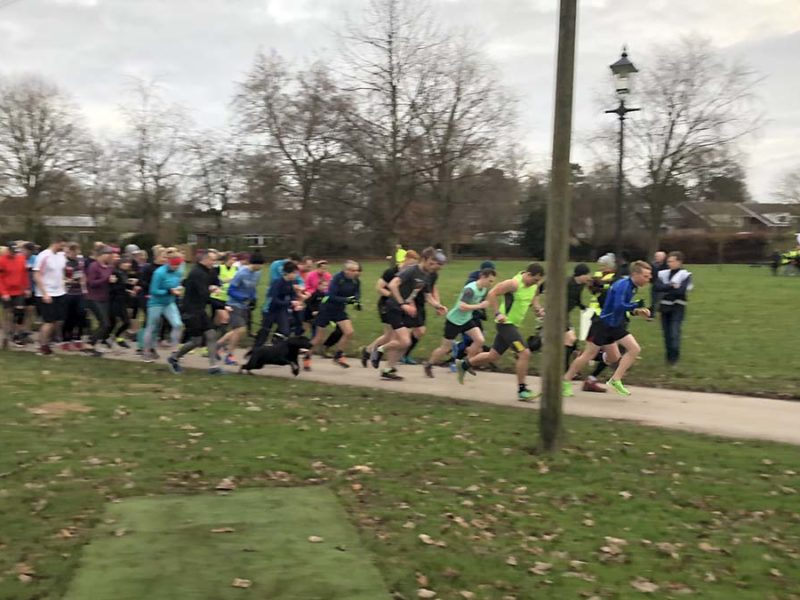 The second Park Run test event in Lichfield's Beacon Park