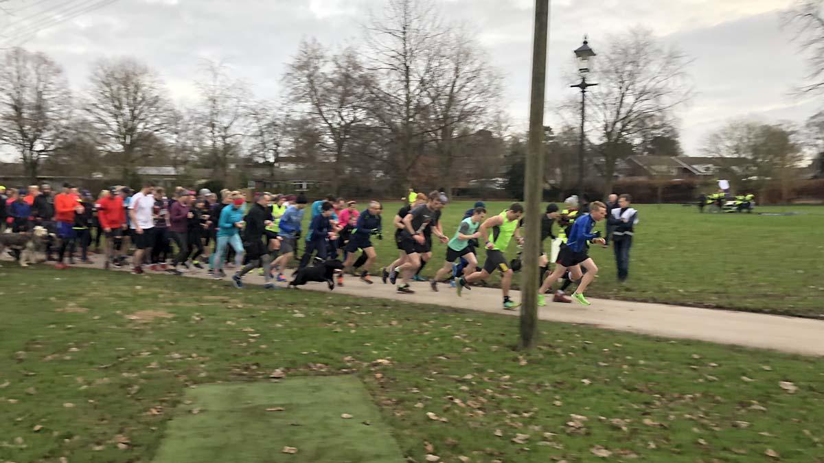The second Park Run test event in Lichfield's Beacon Park