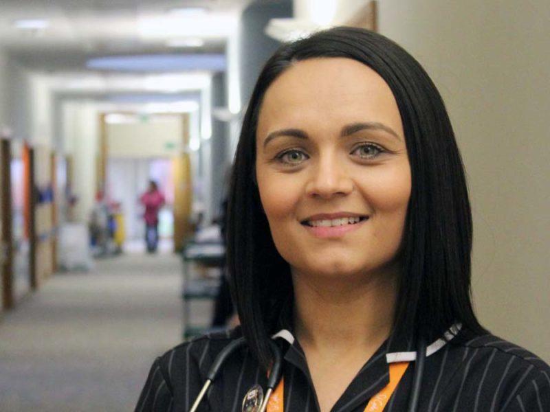 St Giles Hospice nurse consultant Jade Reberio