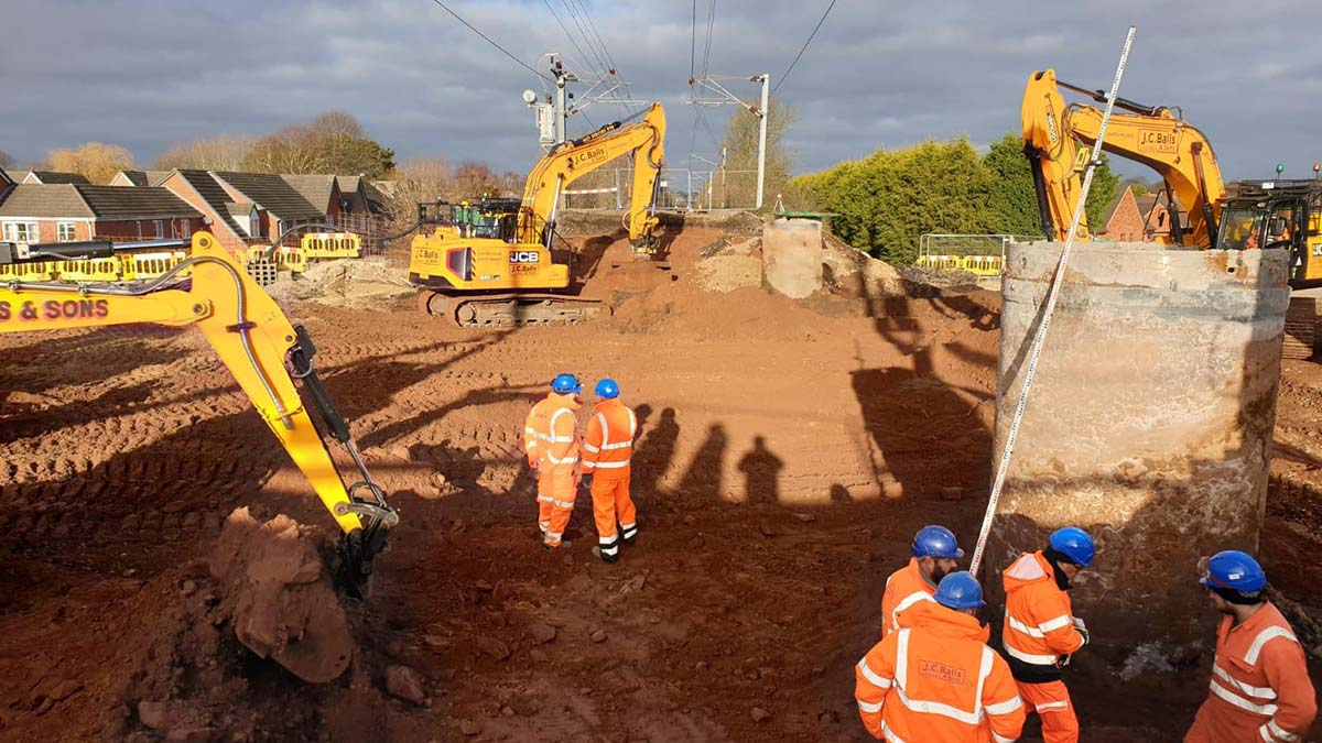 Work taking place on the new Lichfield Southern Bypass