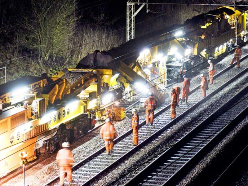 Railway engineering works on the West Coast Main Line