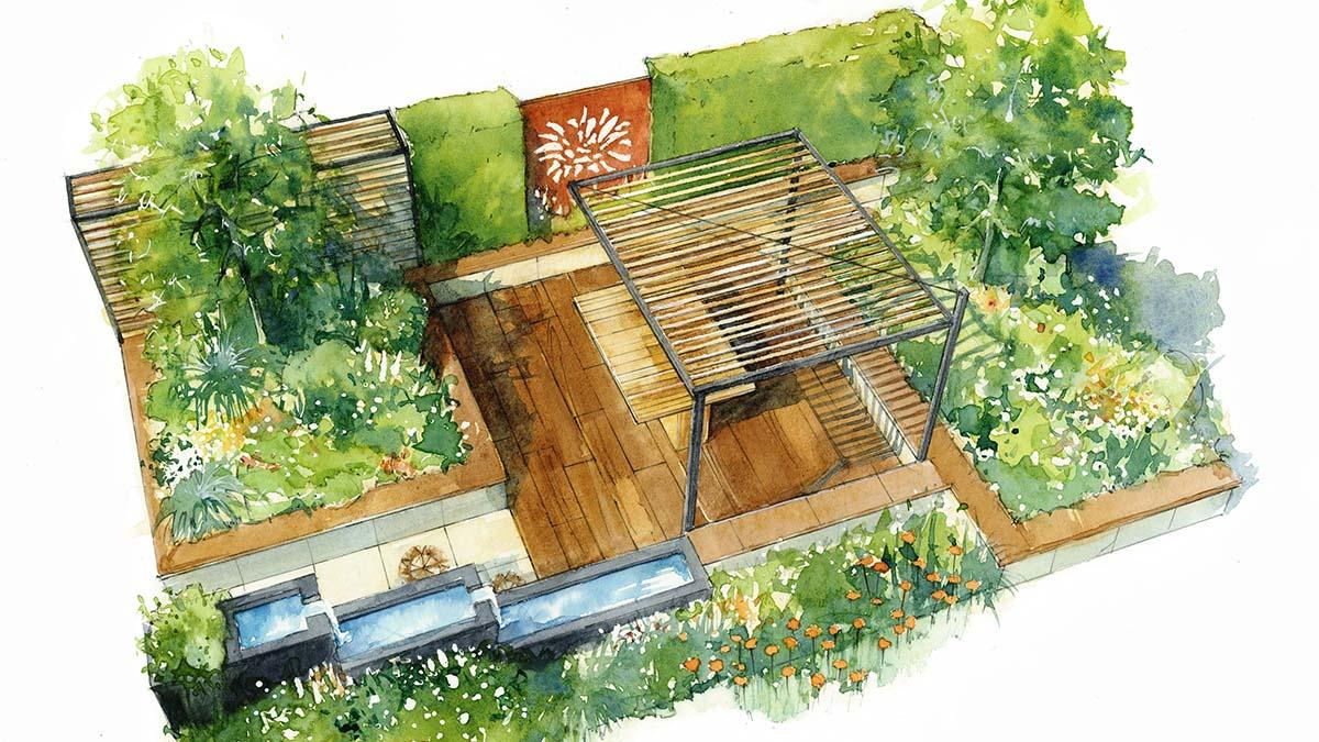 An artist's impression of Karen Tatlow's St Giles Hospice-inspired Garden